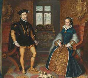 Queen Mary I and King Philip II