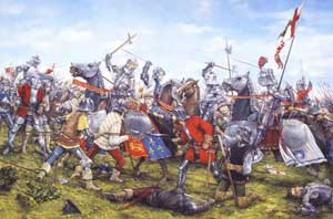 King Henry VII at the Battle of Bosworth