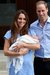 William And Kate with the Royal baby